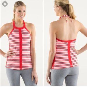 Lululemon Athletica Halter Striped Top